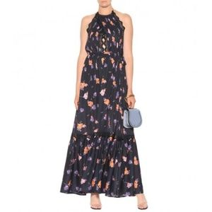 Self Portrait NWT Halter Maxi Dress Floral